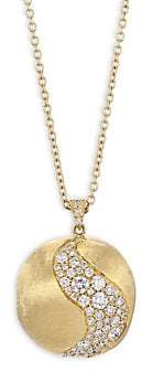 Marco Bicego Africa Diamond& 18K Yellow Gold Long Pendant Necklace