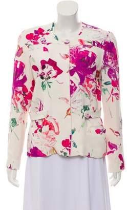 Ungaro Floral Print Crepe Jacket