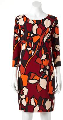MSK Women's Abstract Floral Shift Dress