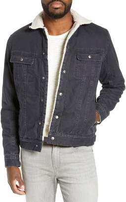 Faherty Stormrider Fleece Lined Denim Jacket