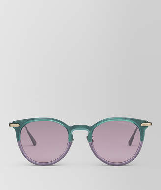 Bottega Veneta GREEN METAL SUNGLASSES