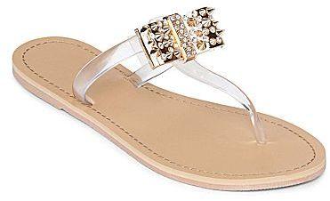 JCPenney Asstd National Brand Stud Bow Thong Sandals
