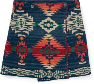 Ralph Lauren Reversible Wrap Jacquard Skirt