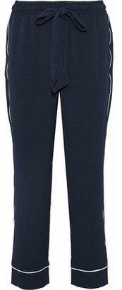 Ganni Clark Crepe Straight-Leg Pants