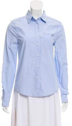 Kate Moss x Equipment Pointed Collar Button-Up Blouse