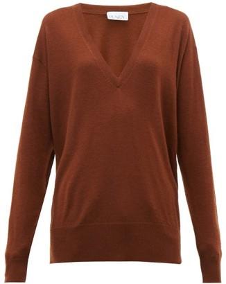 Raey V Neck Fine Knit Cashmere Sweater - Womens - Dark Orange