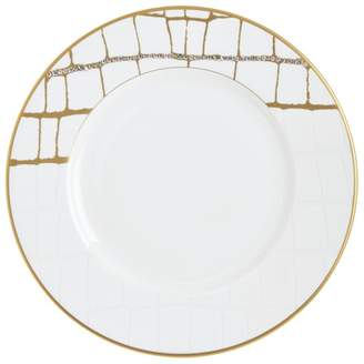 Swarovski Domenico Vacca by Prouna Alligator Gold Crystal Salad Plate
