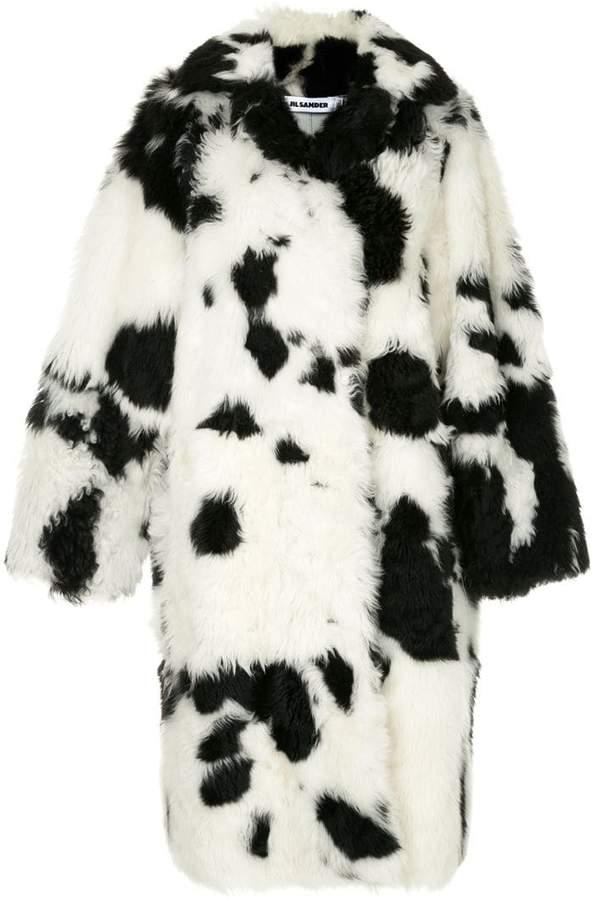 cow pattern coat