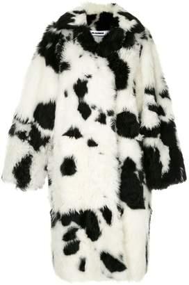Jil Sander cow pattern coat