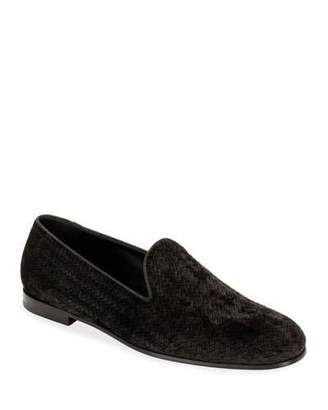 Giorgio Armani Men's Woven Velvet Formal Loafer