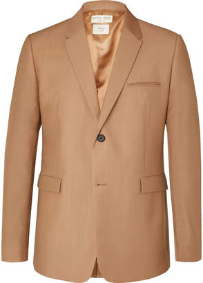 Bottega Veneta Camel Worsted Mohair And Wool-Blend Blazer