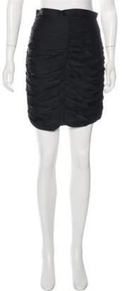 Thomas Wylde Silk Knee-Length Skirt Black Silk Knee-Length Skirt