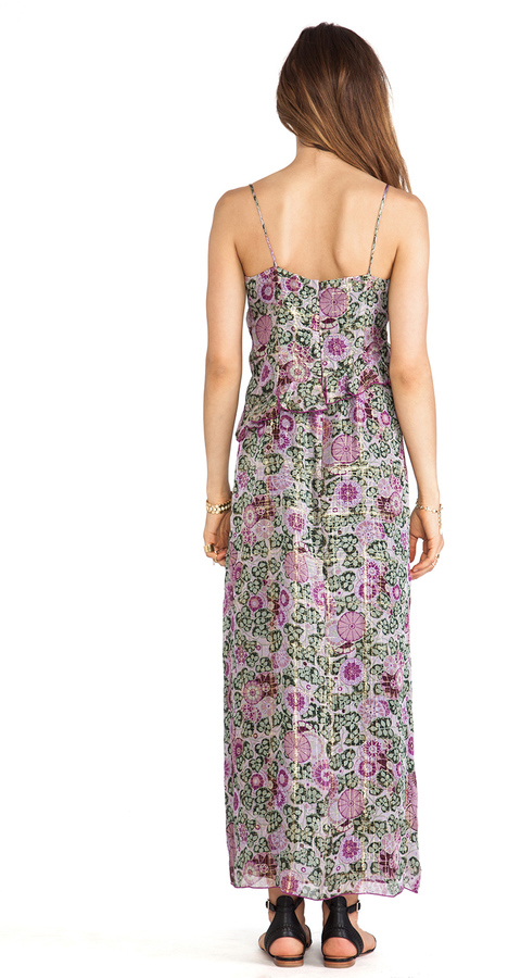 Anna Sui Sunflowers Print Maxi Dress