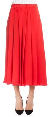 Victoria Beckham Elastic-Waist Pleated Culottes, Red $1,750 thestylecure.com