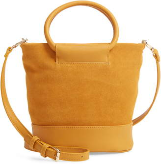 Sole Society Debdi Suede & Faux Leather Crossbody Bag