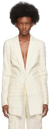 Jacquemus Off-White Embroidered La Veste Bergamo Blazer