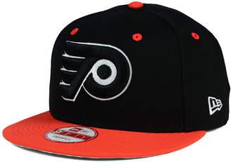 New Era Philadelphia Flyers Black White Team Color 9FIFTY Snapback Cap