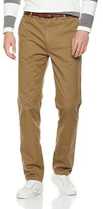 Wood Paper Company Men's Slim Fit Chino In Cotton Twill Spandex Pant With Belt