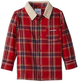 SUPERISM Lincoln Flannel Shirt w/ Sherpa Collar Boy's Clothing