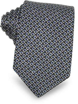 Lanvin Pattern Print Silk Men's Narrow Tie