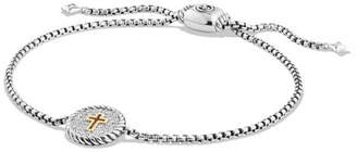 David Yurman Petite Pavé Diamond Cross Bracelet