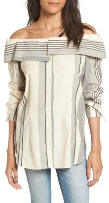 Women's Stone Cold Fox Poppy Off The Shoulder Top $215 thestylecure.com
