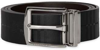 Burberry Reversible EKD Check Leather Belt