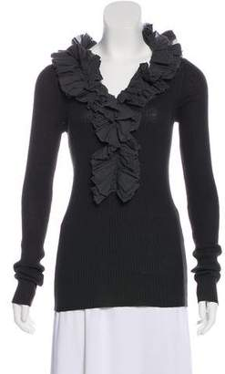 Marc by Marc Jacobs Ruffle-Accented Knit Top