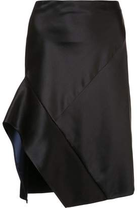 Narciso Rodriguez contrast trim asymmetric skirt