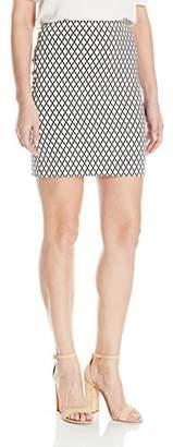 Karen Kane Women's Diamond Print Skirt
