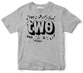 "Sprinkles And Jam ""Two"" Confetti Style Boys 2nd Birthday Boy Shirt Slim Fit Birthday Tshirt"