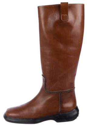 Tod's Leather Round-Toe Knee-High Boots Leather Round-Toe Knee-High Boots
