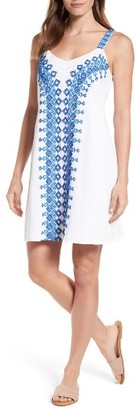 Women's Tommy Bahama Embroidered Cotton Shift Dress $98 thestylecure.com