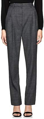 The Row Women's Brina Wool-Blend High-Waist Trousers - Grey Melange