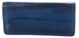 Kotur Metallic Snakeskin Clutch