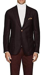 "Boglioli Men's ""K Jacket"" Wool Hopsack Three-Button Sportcoat - Brown"