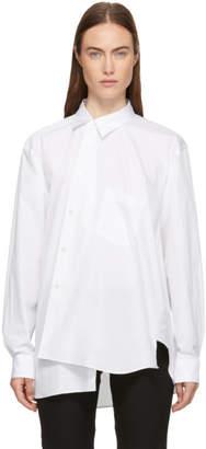 Comme des Garcons White Asymmetrical Shirt