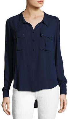 AG Jeans Nevada Henley Pullover Shirt, Blue
