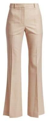 Victoria Beckham Wool High-Waist Flared Leg Trousers