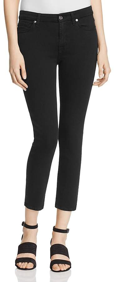 7 For All Mankind 7 For All Mankind b(air) Kimmie Crop Jeans in Black