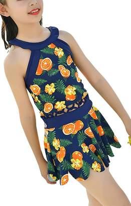 Pointss Girls' Bowknot Swimsuit Swimwear One Piece Beach Bath Suit