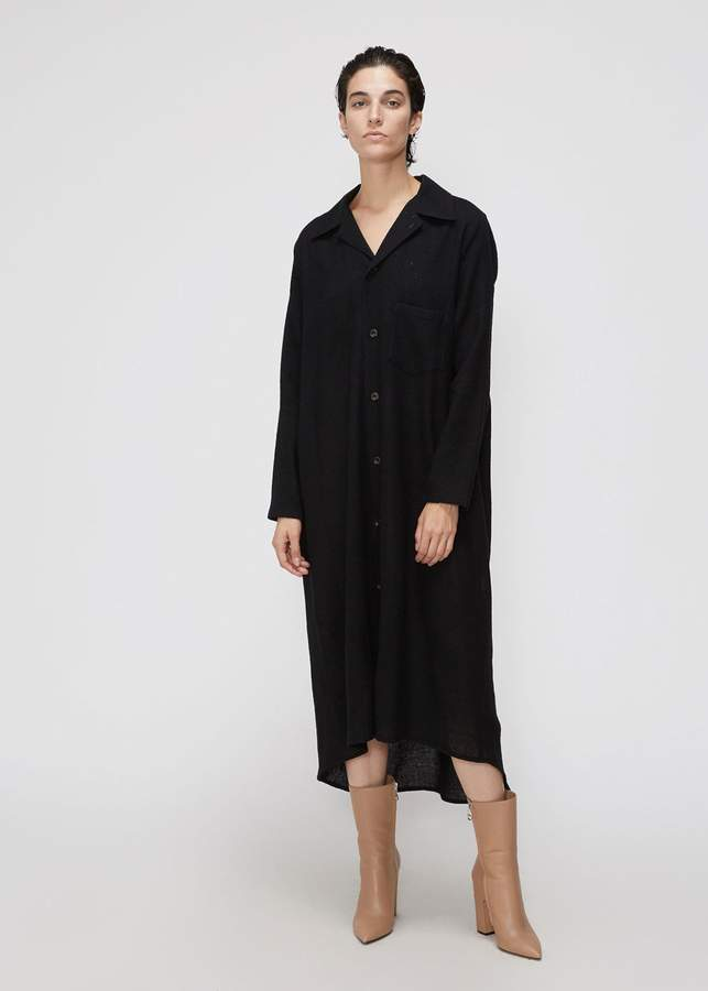 Nocturne #22 Long Sleeve Opened Collar Dress