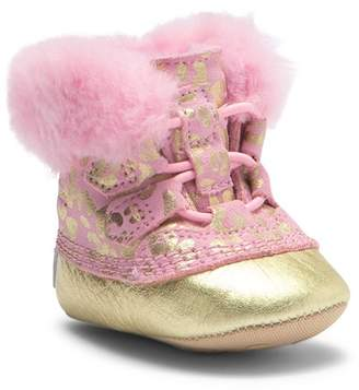 Sorel Caribootie Genuine Shearling Leather Bootie (Baby)