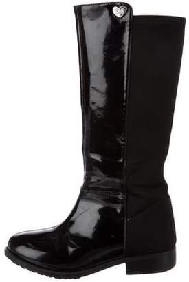 Stuart Weitzman Girls' Patent Leather Tall Boots