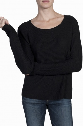 HELMUT Plush Wool Sweater Black