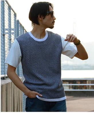 Men's Bigi (メンズ ビギ) - Men's Bigi 異素材Tシャツ