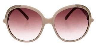 Chloé Scalloped Oversize Sunglasses