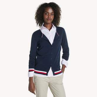 Tommy Hilfiger Tipped Cardigan Sweater
