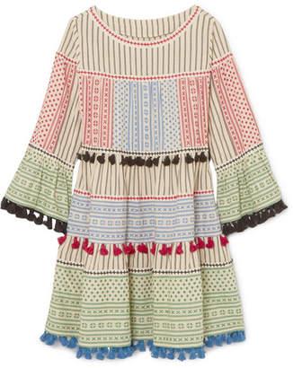 Off-White Dodo Bar Or - Tasseled Cotton-gauze Mini Dress