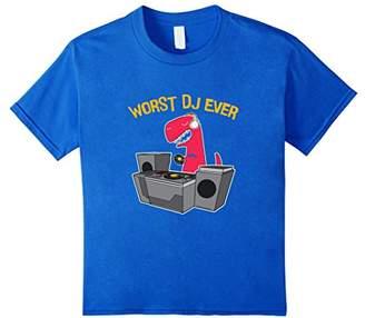 Worst DJ Ever - Funny T Rex Dinosaur T Shirt